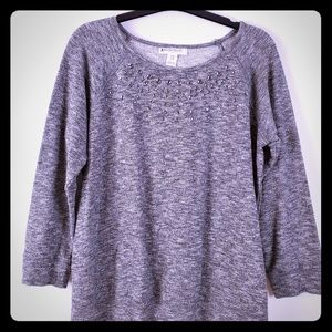 Motherhood maternity Gray jewel sweat shirt medium